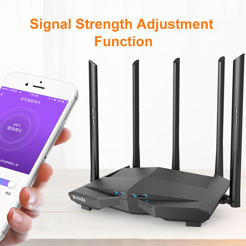 cheapest Tenda Nova MW6 WiFi Gigabit Router Whole Home Mesh WiFi System with 11AC 2 4G 5 0GHz  Wireless WI-FI Repeater APP Remote Manage