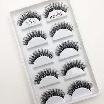 Wholesale 10/50 Boxes 3D Mink Eyelashes Natural Thick False Eye Lashes Mink Lashes Soft Fake Eyelash Wispy Makeup Cilios H13 1