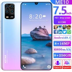 ME10 Mobile Phone 7.5 inch Global Version 6800mAh 8GB RAM 256GB ROM 8 Core 5 Camera Snapdragon 855 4G LTE Android Smart phone
