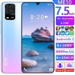 ME10 téléphone portable 7.5 pouces Version globale 6800mAh 8GB RAM 256GB ROM 8 Core 5 caméra Snapdragon 855 4G LTE téléphone intelligent Android