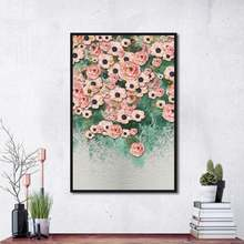 Canvas painting flower cluster oil home decoration living room