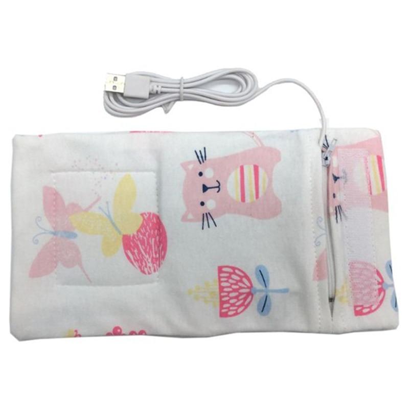 Usb подогреватель молока воды дорожная коляска изолированная сумка детская бутылочка для кормления подогреватель - Цвет: Cat pattern