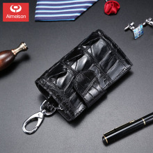 Coin purse key case  car universal female large capacity multifunctional crocodile leather leather simple key case male ASBD022