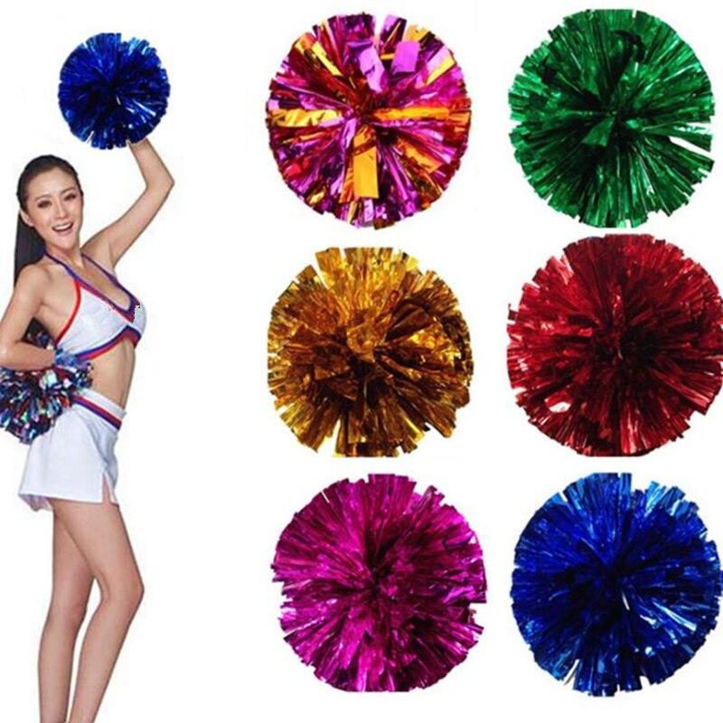 Blue Pink Party Pom Poms Baton Fancy Dress Cheerleader Pompom Decoration