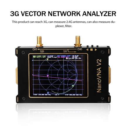 Векторный анализатор сети 3G S-A-A-2 NanoVNA V2, цифровой нано-анализатор, тестер MF HF VHF UHF USB, анализатор логической антенны, стоячей волны
