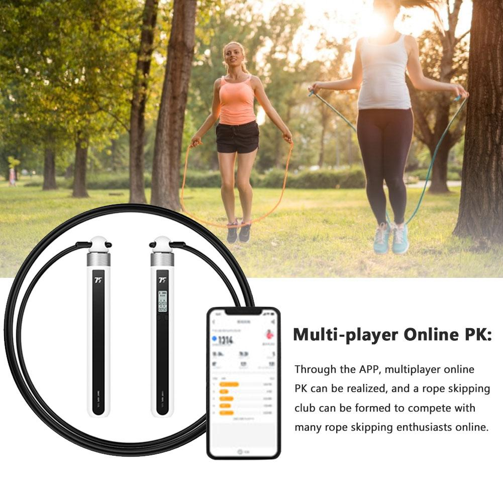 Smart Rope with APP Data Analysis USB Training Skipping Rope Wire Rope Bluetooth Control Fitness Equipment