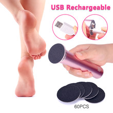 USB Rechargeable Wireless Electric Foot File Cuticle Callus Remover Machine Pedicure Tools Foot Heel Care Tool With Sandpaper