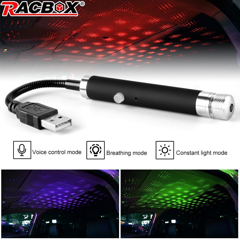 Upgraded Version USB Star Dome Sky Light Car Interior Atmosphere Led Lamp Multi-mode 360 Degree Rotation Flexible Adjustment 5V