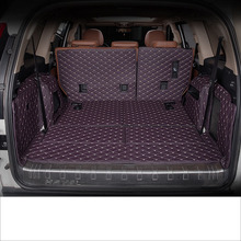 lsrtw2017 for great wall haval H9 leather car trunk mat cargo liner 2015 2016 2017 2018 2019 rug carpet boot luggage