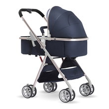 Leecus high view baby stroller light folding can sit and lie down two-way shock absorbent baby baby hand cart