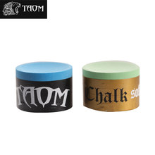 Taom Pyro Chalk Blue Green Pink Billiard Snooker Pool Cue Round Chalk Cost-effective Professional Durable Billiard Accessories(China)