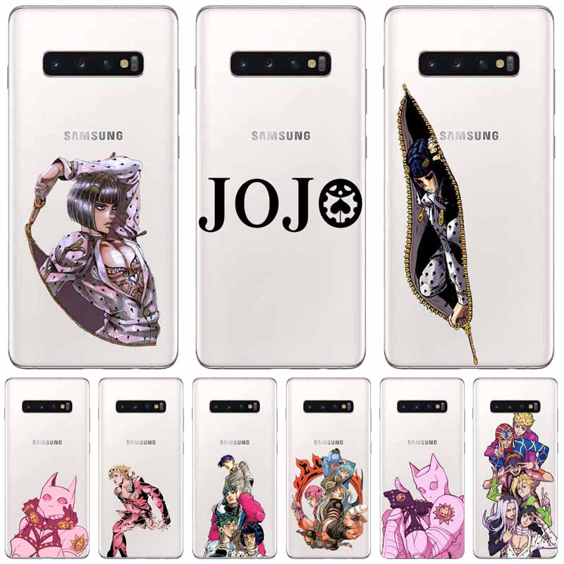 JOJO'S BIZARRE ADVENTURE OVER HEAVEN JoJo <font><b>Anime</b></font> TPU <font><b>Case</b></font> Capa Do Telefone para o <font><b>Samsung</b></font> Glaxy S 6 7 8 9 10 <font><b>Plus</b></font> Note 8 9 10 image