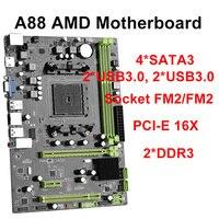 A88 AMD motherboard A77 A78 A88X chipset MATX desktop motherboard with FM2 FM2+ socket support dual channels DDR3 desktop 16GB