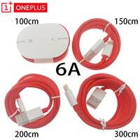 Oneplus 7T USB 3,1 tipo C 6A DASH Cable redondo carga rápida sincronizar datos línea cm 100cm 150cm 200cm 300cm para un plus 6 6t 5 3