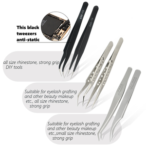 Image 3 - Qiao Excellent Quality 6 Different Options Tweezers New Stainless Steel Industrial Anti static Cross Tweezers Accessories Tools
