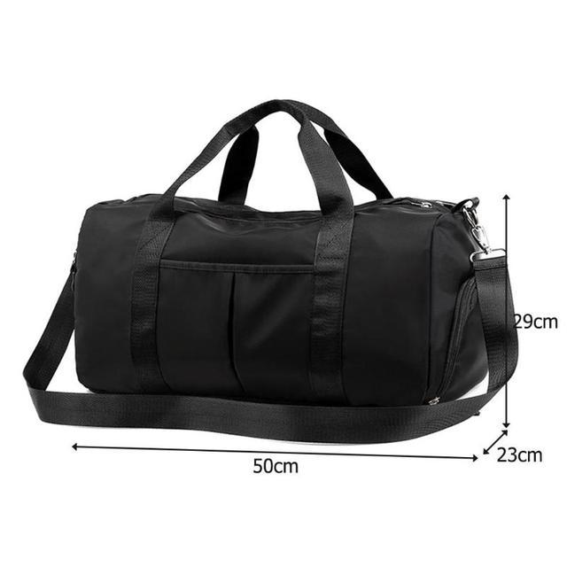 Nylon Women Men Travel Sports Gym Shoulder Bag Large Waterproof Nylon Handbags Black Pink Color Outdoor Sport Bags 2019 New 2