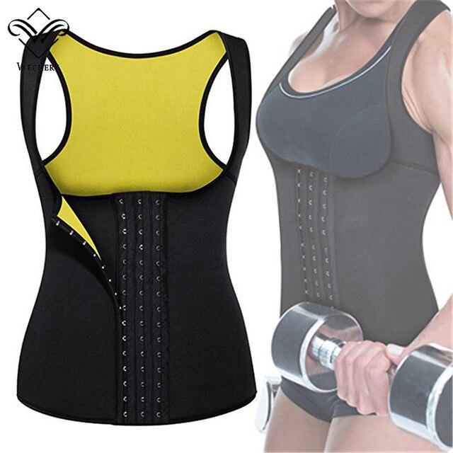 Wechery Slimming Body Shaper Tops Tummy Control Belt Women Modeling Strap Sweat Sport Clothes Neoprene Shapewear Flat Belly 1