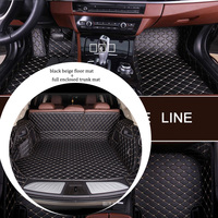 Leather car floor mat and trunk mat combination for JAGUAR E Pace F Pace X Type I pace S Type XK8 XJ6 XJ8 XF XJL XK 1991 2019s