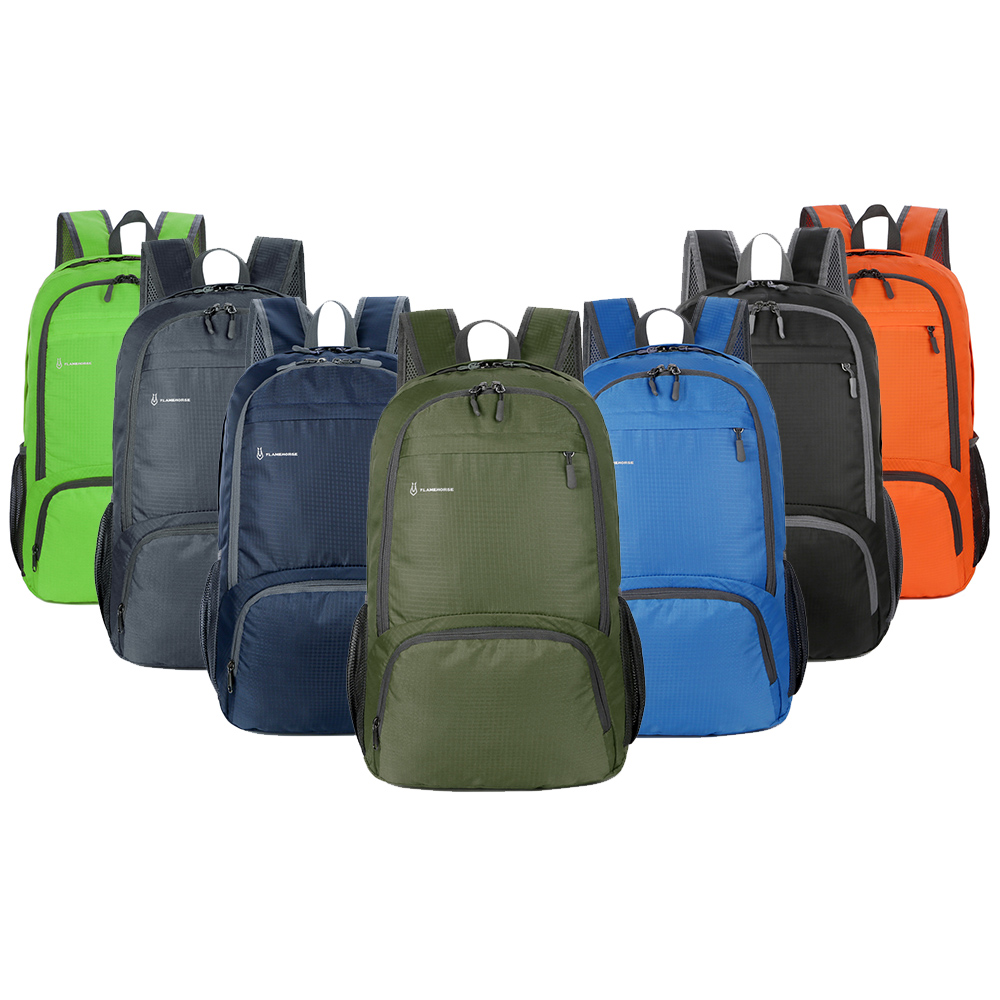 New High Quality Durable Nylon Folding Backpack Men Women Lightweight Outdoor Travel Hiking Backpack Portable Camping Daypack