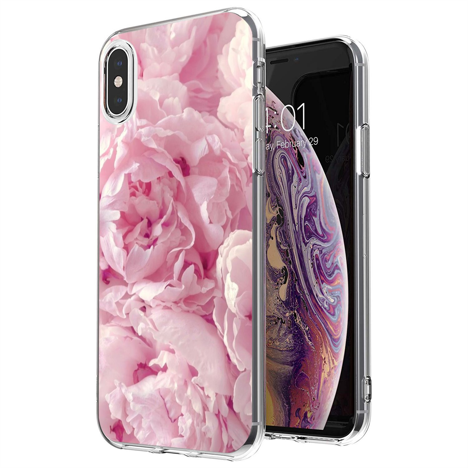 Pink Flower Peony Buy Silicone Phone Case For Xiaomi Redmi 4A 7A S2 Note 8 3 3S 4 4X 5 Plus 6 7 6A Pro Pocophone F1(China)