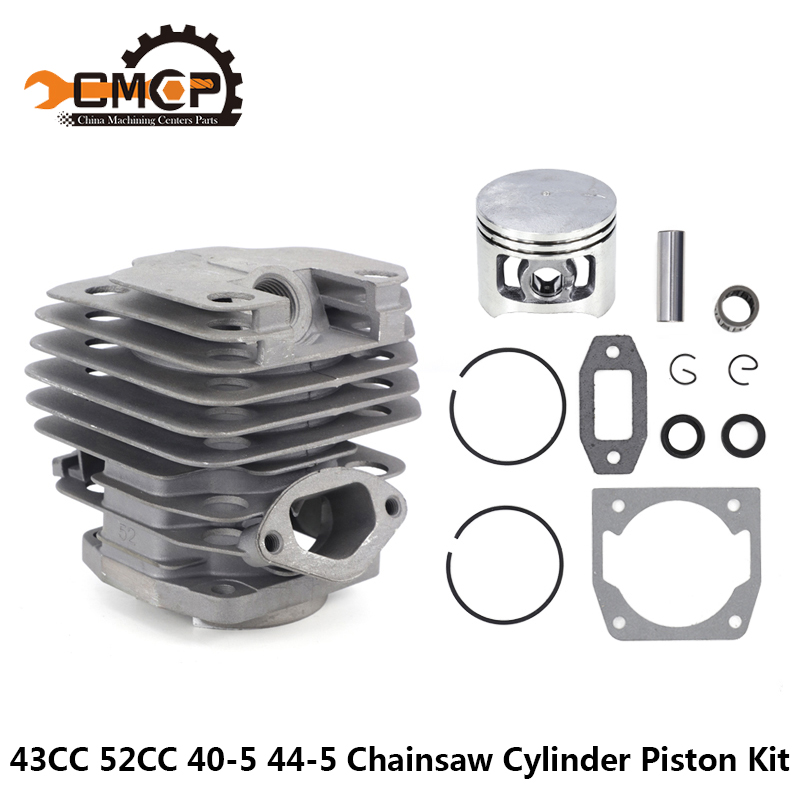 1 Set Diameter 45mm Chainsaw Cylinder And Piston Set Fit 52 52cc Chainsaw Spare Parts For Gasoline/Oil Chainsaw