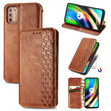 Premium Leather Case For Motorola Moto G9 Plus High Quality Magnetic Flip PU Wallet Case For Moto G9 Plus Cover With Card Slot