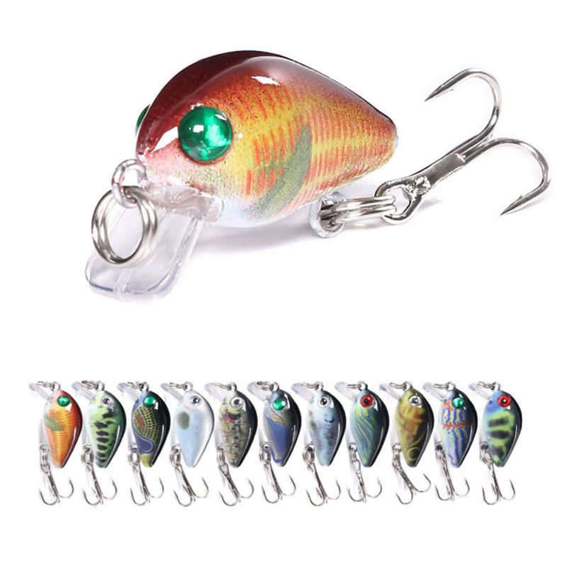 3cm / 1.5g Ocean Sea Fishing Lures Crazy Wobblers MiniRock Fatty Fishing Bait Outdoor Fishing Bait Accessories