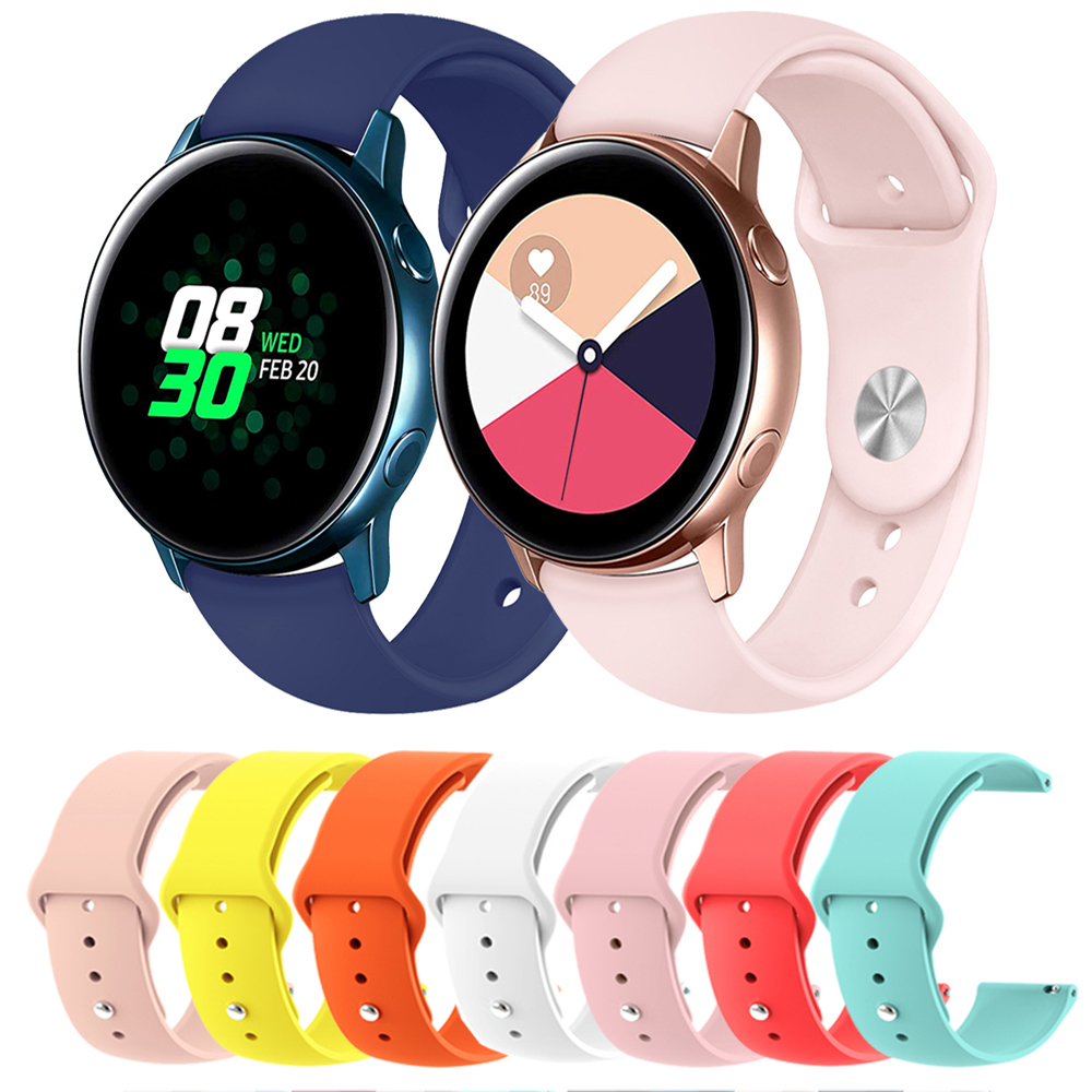 22mm 20 Band For Samsung Gear Sport S3 S2 Classic Galaxy Watch Active 40 44mm 46mm 42mm Strap Huami Amazfit Gtr Bip Huawei Gt 2
