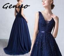 Женское вечернее платье из фатина серое с аппликацией и v образным