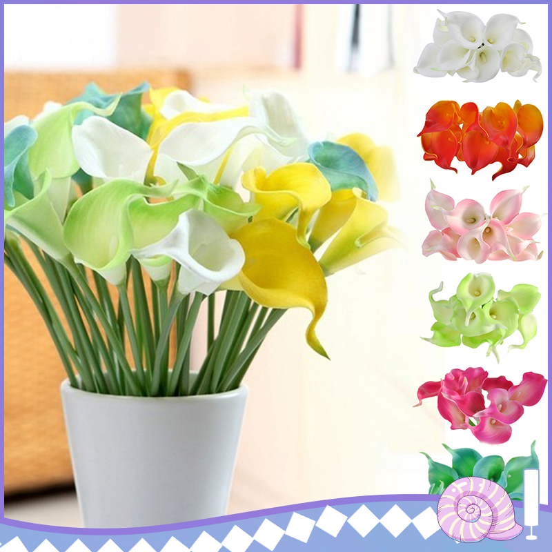 10pcs Artificial Flowers Simulation Lilies Pu Small Calla Lily