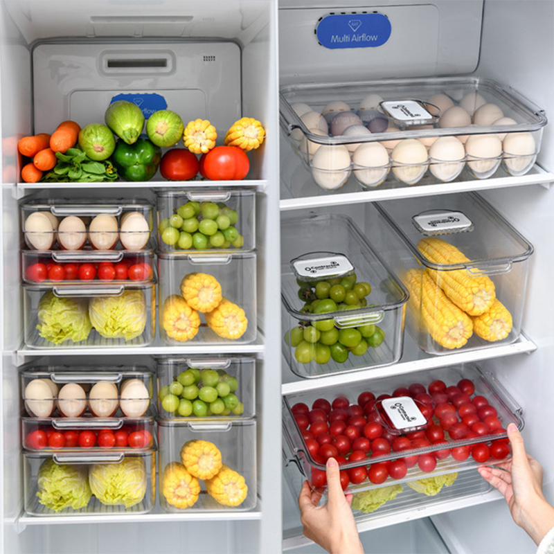 PET Кухня Холодильник коробка для хранения с вентиляционным клапаном коробка для яиц Фрукты овощной хранения пластиковый контейнер для фруктов и овощей пищевые контейнеры для хранения коробка|Бутылки, банки и коробки|   | АлиЭкспресс