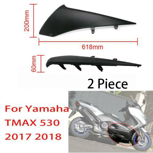 2 Piece Matte Black Motorcycle Under lower Side Fairings Panel ABS Board Cover For Yamaha <font><b>T</b></font>-<font><b>MAX</b></font> TMAX <font><b>530</b></font> TMAX530 2017 <font><b>2018</b></font> image
