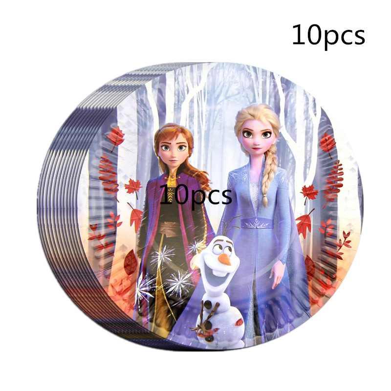 20 piezas Baby Shower Snow Queen Frozen 2 servilleta desechable decoración para fiesta de feliz cumpleaños niñas favorece los suministros de la fiesta de San Valentín