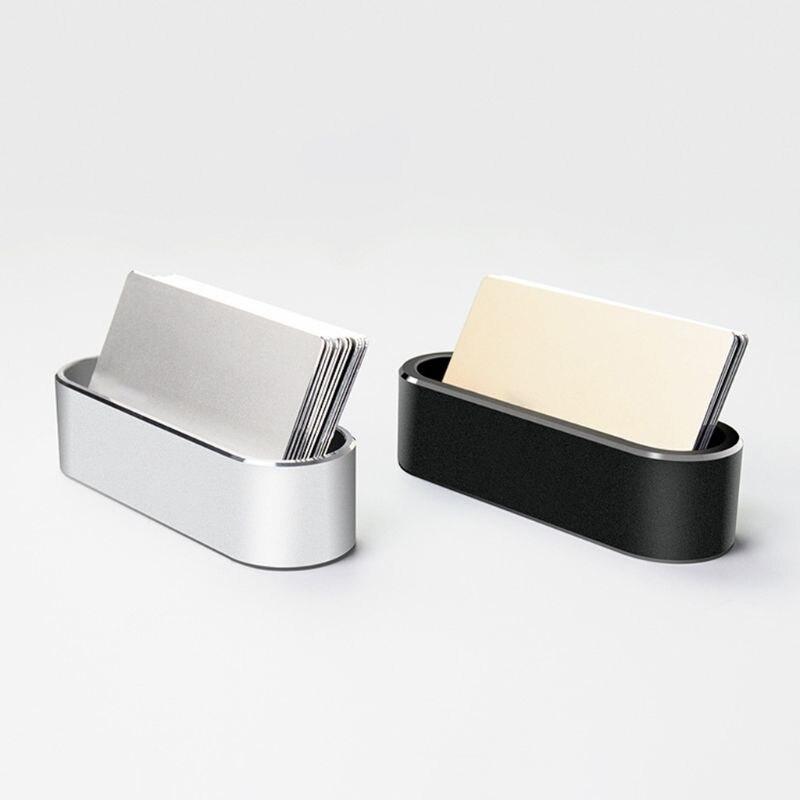 Metal Business Name Card Holder Aluminum Display Stand Rack Desktop Organizer