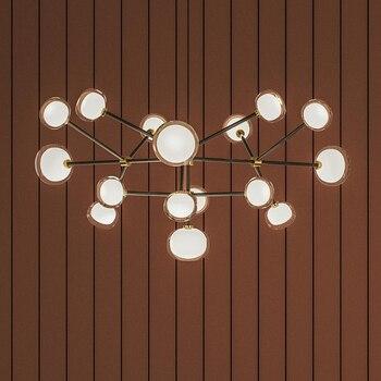 Nabila Rectangular Round Chandelier For Dining room Bar Kitchen sputnik chandelier Nordic Design art deco Glass Ball Chandelier