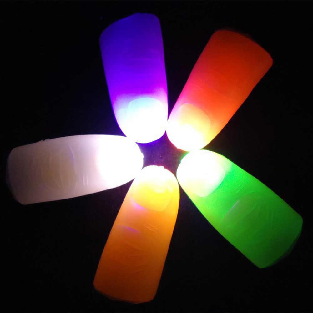 1 Pair Magia Creativa Produttori di Luce di Colore del Pollice Punte Con LED Magia Thumb Tip Luce Illusion Morbido Formato Standard