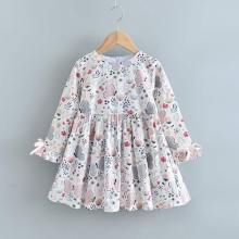 Girls Casual Dresses 2020 Autumn Girl Flowers Dress Spring Floral Kids Party Costumes Long Sleeve Children Clothing