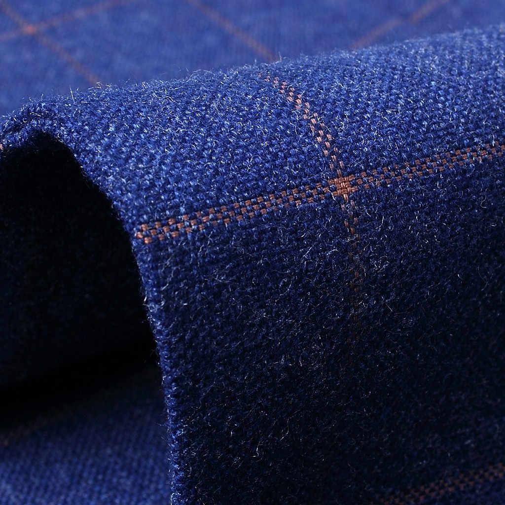 סתיו וחורף זכר בלייזר מעילי משובץ גברים של אופנה סגנון חדש כפתור אחד חליפת עבור עצמי טיפוח עסקים מעילי חולצה