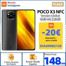 -20€ Código:XIAOMIES150 ,NFC POCO X3 teléfono móvil versión Global 6GB 64GB /128GB Snapdragon 732G 6,67