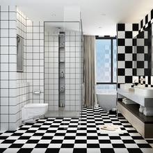 Baño impermeable y resistente al desgaste pegatinas autoadhesivas pegatinas de pared baldosas de baño pegatinas de suelo de pared azulejo de papel