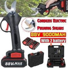 88V аккумуляторная электрическая серпы 30 мм Макс резки садовый секатор ветви дерева резак с 2 литий-ионный Батарея штепсельная вилка стандар...
