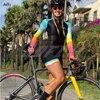 Ciclismo feminino kafitt roupas de manga longa triathlon ciclista macaco verão mulher ciclismo macacão 20d almofada gel com frete grátis 13