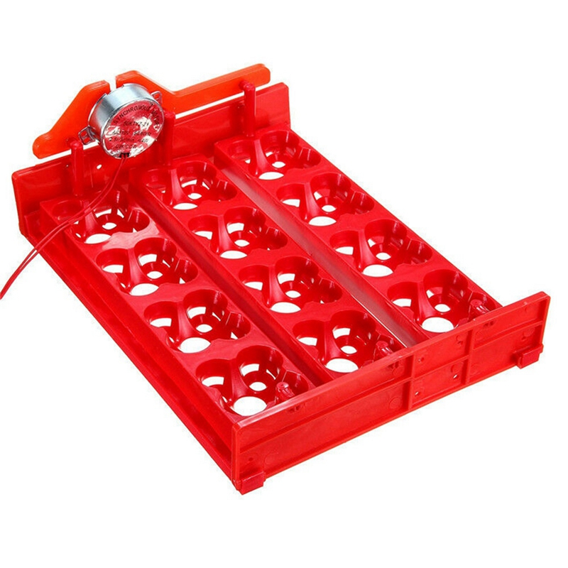 20 Eggs Chicken For Incubator Automatic Turner Tray Hold Duck Quail Bird Poultry