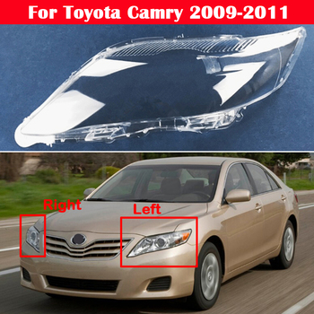 European and American version Transparent Headlight Glass Shell Lamp Shade Headlamp Lens Cover For Toyota Camry 2009 2010 2011