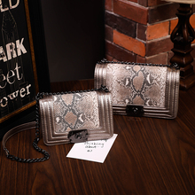 snake skin handbag Women Diamond Lattice Chain shoulder channels fashion bags la