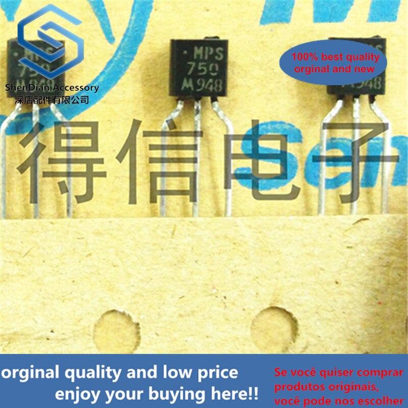 10pcs 100% Orginal MPS750 750  TO-92 PNP Silicon Epitaxial Planar Transistor Real Photo
