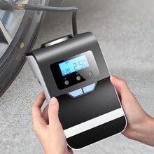 الرقمية الاطارات نافخة الإطارات مضخة 12 فولت المحمولة ضاغط هواء للسيارة مع ضوء كبير مشرق وامض قياس الضغط الرقمي 150Psi