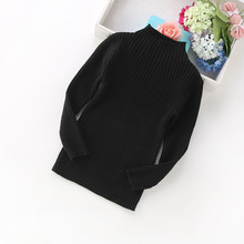 Warm Knitted Kids Winter Pulover Sweater Little Girl Dress High Neck Sweater Children Top Clothing 3 4 5 6 7 8 9 10 11 12 Year pulover galvanni pulover