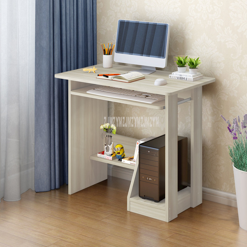 Modern Wood Desktop Computer Desk With Keyboard Tray PC Laptop Desk For Study Student Writing Table Home Office Work Furniture