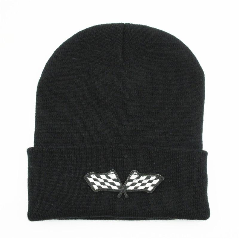 Flag Embroidery Thicken Knitted Hat Winter Warm Hat Skullies Cap Beanie Hat For Kid Men Women 302